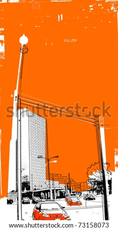 urban - stock vector