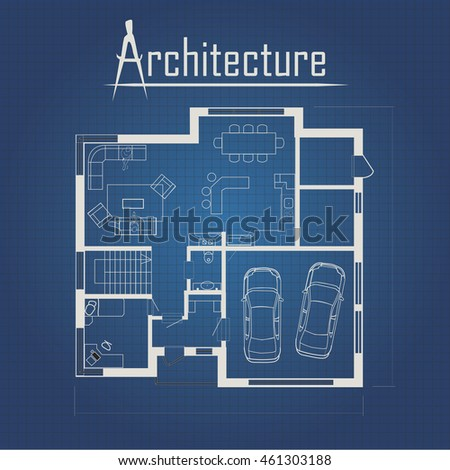 Urban Blueprint (vector). Architectural background. Part of architectural project, architectural plan, technical project, drawing technical letters, construction plan