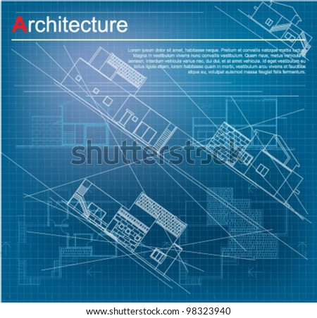 Urban blueprint vector architectural background part stock vector urban blueprint vector architectural background part of architectural project architectural plan malvernweather Choice Image