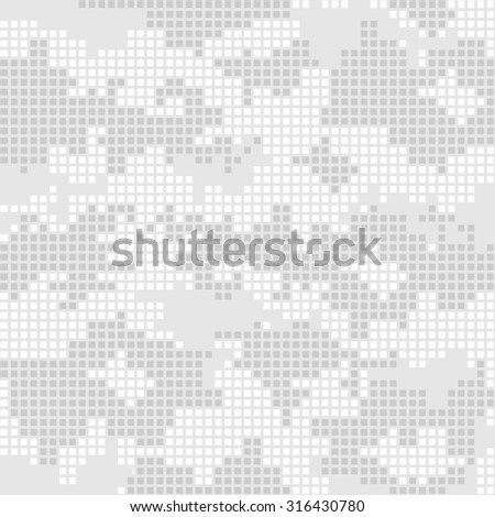 Urban camo pixels seamless patterns - vector stock. - stock vector