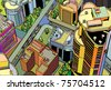 urban city - stock vector