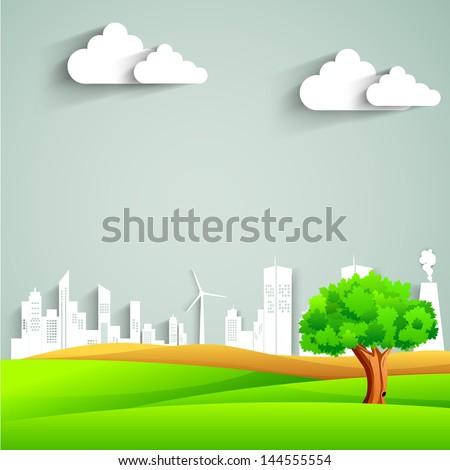 Urban city background. - stock vector