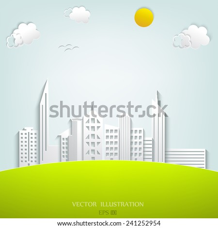 Urban city background. Vector illustration - stock vector
