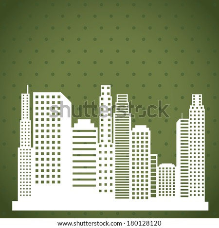 urban city design over dot texture background vector illustration