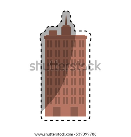 Urban city tower icon vector illustration graphic design