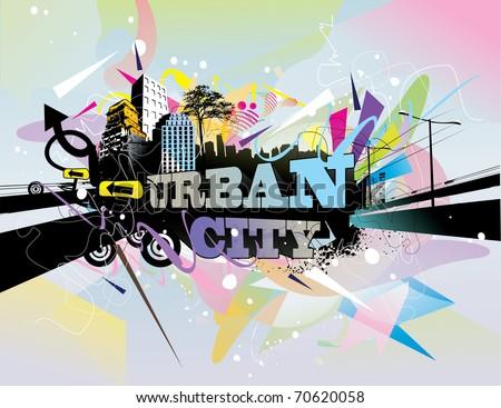 urban city vector illustration - stock vector