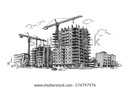 Sketch of building a house