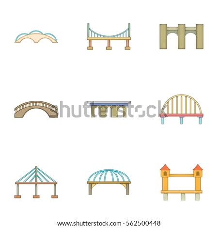 Urban construction icons set. Cartoon illustration of 9 urban construction vector icons for web