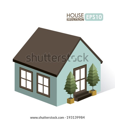 Urban design over white background, vector illustration