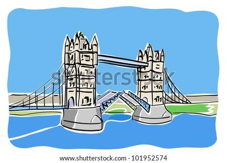 urban doodle sketch street city landscape. vector - stock vector