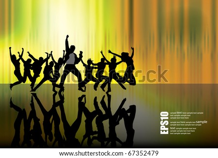 Urban music background - stock vector