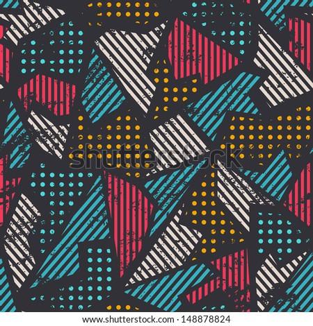 urban seamless pattern - stock vector