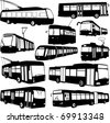 urban transportation collection - vector - stock vector