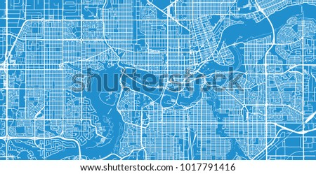 Urban vector city map edmonton canada stock vector 1017791416 urban vector city map of edmonton canada gumiabroncs Images