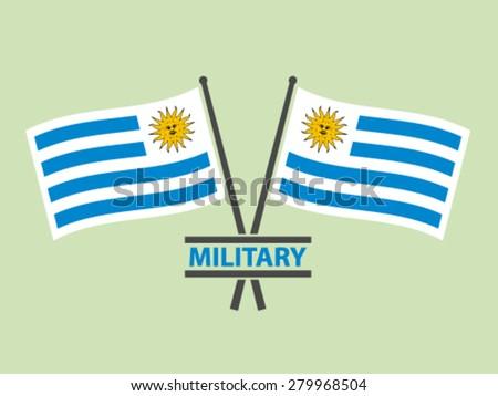 Uruguay Flags Emblem Military - stock vector
