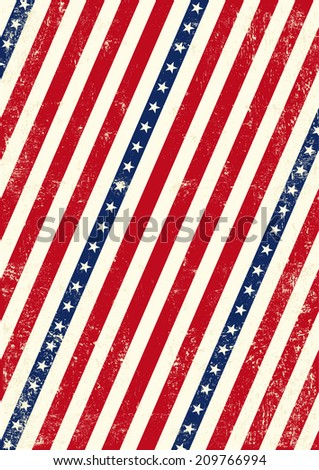 US dirty poster. An american background for your publicity - stock vector