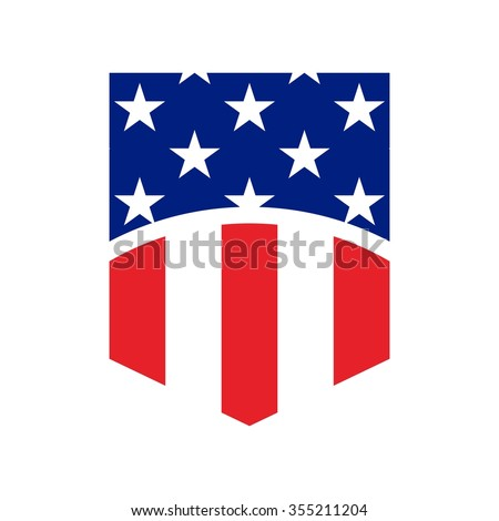 US flag symbol. logo vector. - stock vector