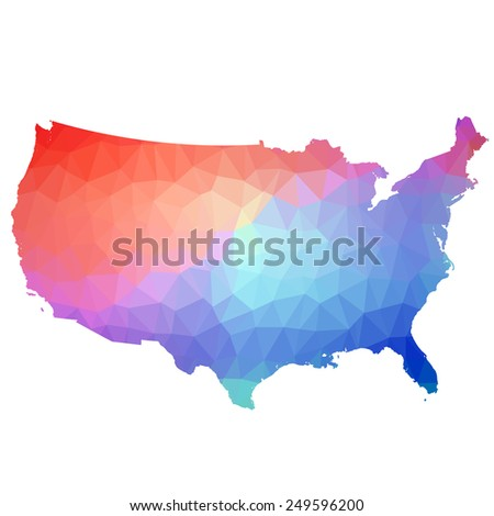 US in color triangle. Vector. 2 Vector.  - stock vector
