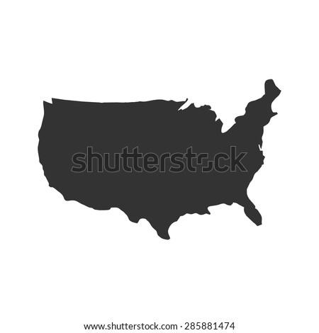 US logo, US icon, US symbol, USA map vector, US MAP VECTOR, UNITED STATES OF AMERICA MAP VECTOR - stock vector