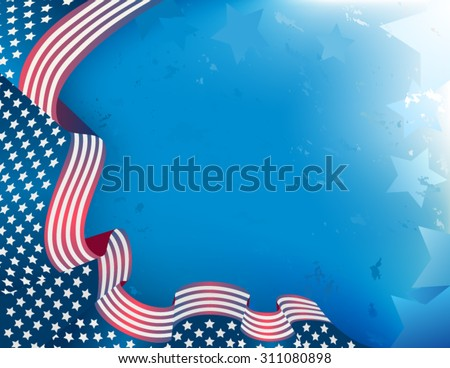 US Patriotic background - stock vector