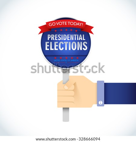 US Presidential election 2016. American president. go vote today. presidential elections. Vector Illustration, eps10, contains transparencies. - stock vector