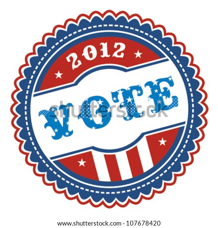 US presidential election 2012 badge