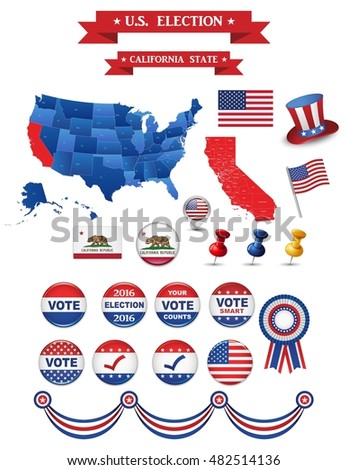 Us Presidential Election 2016 California State Including High Detailed Map Of California Perfect
