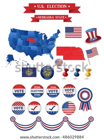 Us Elections Stock Images RoyaltyFree Images Vectors - Us electoral map vector graphic