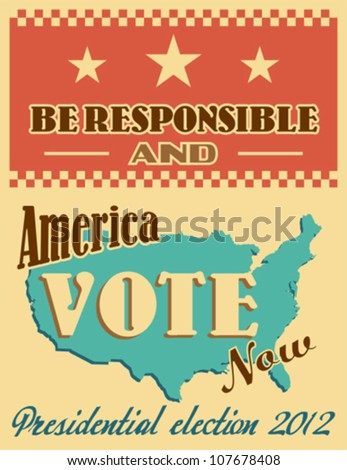 US presidential 2012 election poster - stock vector