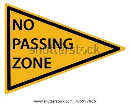 us road warning sign no passing stock vector 706997866 - shutterstock