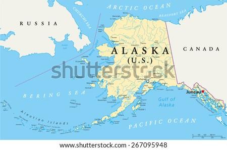 Alaska Map Stock Images RoyaltyFree Images Vectors Shutterstock - Alaska us map