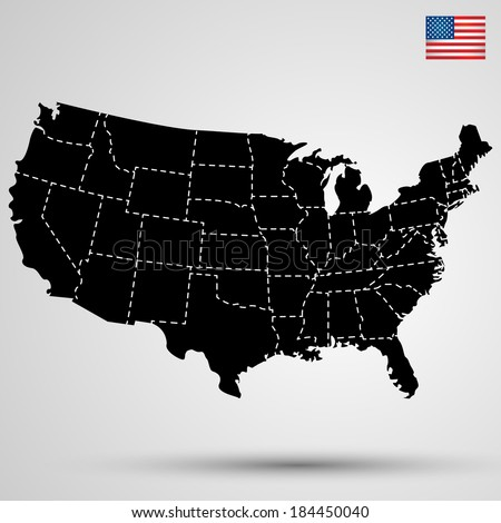 USA - stock vector