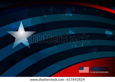 USA American flag background for Independence Day, Memorial Day and other events, Vector illustration