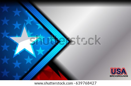 usa american flag color background for Independence Day and other events, vector illustration