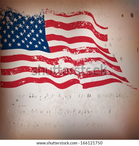 USA,American,US flag grunge old textured background.  EPS10 - stock vector
