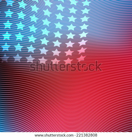 USA American vector abstract background flag illustration - stock vector