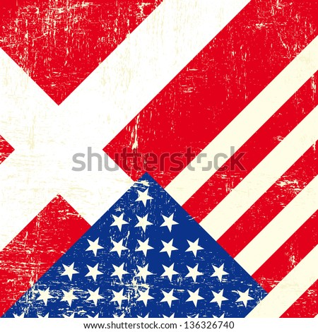 USA and Denmark grunge Flag. this flag represents the relationship  between Denmark and the USA