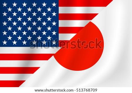 Usa Japanese Flag Stock Vector Shutterstock - Japanese flag