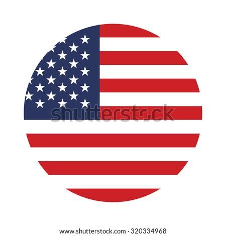 USA button flag  - stock vector