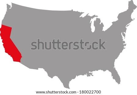 USA California - stock vector