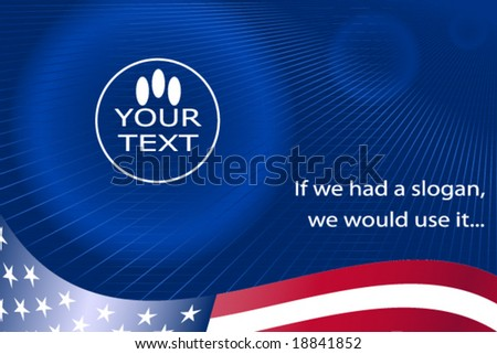 USA corporate background - vector - stock vector