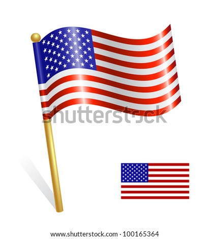 USA Country flag - stock vector