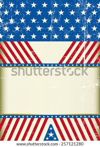 USA design A. A grunge american background with a large empty space for your message