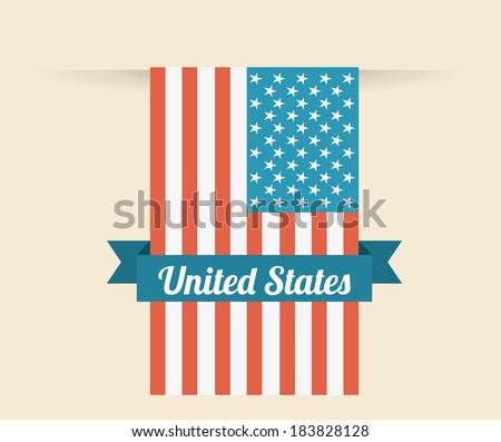 USA design over beige background, vector illustration - stock vector