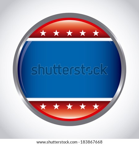 USA design over gray background, vector illustration