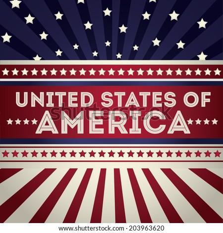 USA design over vintage background, vector illustration - stock vector