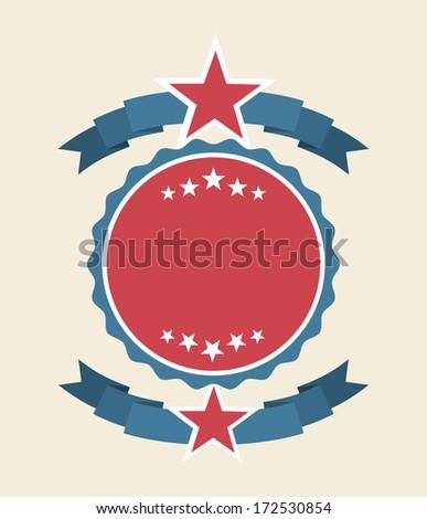 usa design over white background vector illustration - stock vector