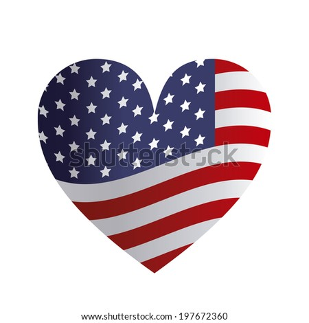 USA design over white background, vector illustration