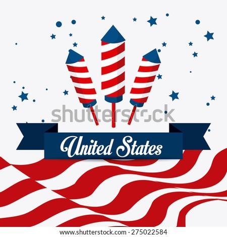 USA design over white background, vector illustration. - stock vector
