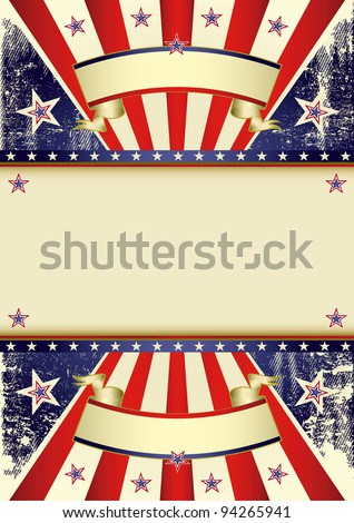 USA distressed flag. A patriotic background with a frame for your message. - stock vector